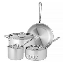 NEW All-Clad Stainless Steel Cookware Set 4pce