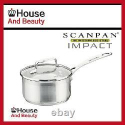 NEW Scanpan Impact 5pc Cookware 2xSet Saucepan+Casserole+Steamer+Fry Pan