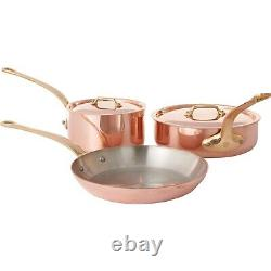NIB Mauviel Made in France M'Heritage M250B Copper 5-Piece Cookware Set