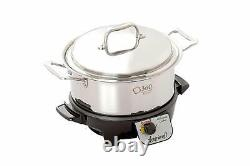 New 360 Cookware 4 Quart Stainless Steel Stock Pot With Cover / Slow Cooker