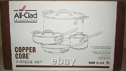 New MetalCrafters All-Clad 6000 7ss 5-Ply Copper Core 7-Piece Cookware Set
