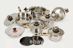 New Supreme Kitchenware 9 Layers Cookware Set 18/10 SS Pot Steamer