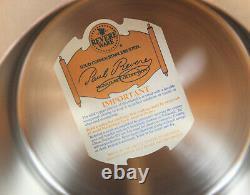 Paul Revere Ware USA Solid Copper Pot 2 QT Bain Marie Double Boiler Pan Ceramic