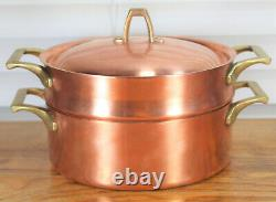 Paul Revere Ware USA Solid Copper Pot 2 QT Double Boiler Pan Limited ED Rare VTG