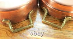 Paul Revere Ware USA Solid Copper Pot 2 QT Double Boiler Pan Signature Rare VTG