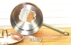Paul Revere Ware USA Solid Copper Pot 2 QT Sauce Pan Signature ED VTG Medium