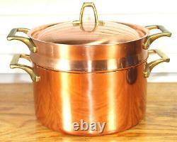 Paul Revere Ware USA Solid Copper Pot 3 QT Double Boiler Pan Bicentennial ED VTG