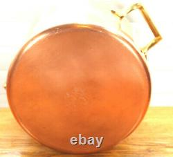 Paul Revere Ware USA Solid Copper Pot 4 QT Tall Large Signature Buffet Casserole