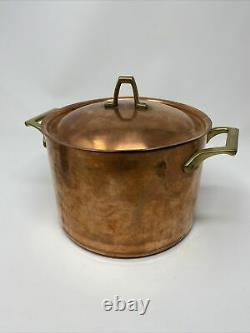 Paul Revere Ware USA Solid Copper Pot 4 QT Tall Large Stock Pot 1976