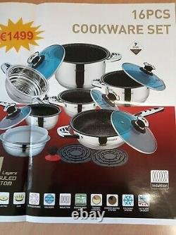 Rosenberg Professional 16 Piece Cookware Set