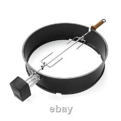 Rotisserie Electric One-Touch Kettle Charcoal Grill Cookware Accessory 22 in