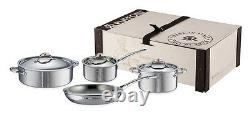 Ruffoni Symphonia Prima 7-Piece Stainless Steel Cookware Set SY7