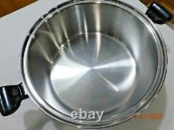 SALADMASTER 16 QT Roaster Stock pot 316Ti Titanium Stainless Waterless Cookware