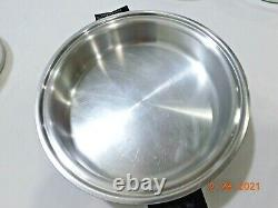 SALADMASTER 18-8 TRI CLAD Stainless Steel Waterless Cookware Electric Skillet