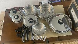 SALADMASTER 316TI Titanium Surgical Stainless Steel 16 Piece Luxury Cookware Set