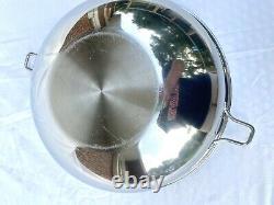 SALADMASTER 5 QT WOK 316Ti TITANIUM STAINLESS STEEL NO LID Waterless Cookware