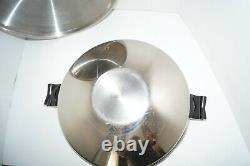 SALADMASTER 5 STAR 7 QT WOK TP304S STAINLESS STEEL & LID Waterless Cookware