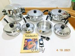 SALADMASTER 5 STAR TP304S Stainless Steel Waterless Electric Skillet Cookware