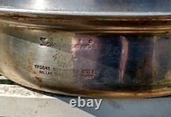 SALADMASTER 8pc 18-8 Stainless Cookware Set Vapo lids 6qt double broiler Fry pan