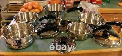 SALADMASTER 9 Piece Salad Master T304S Stainless Steel Cookware with Vapo Valve