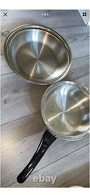 SALADMASTER Cookware Set Stainless Steel. Small And Medium Size Pan With Handle