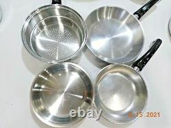 SALADMASTER SYSTEM 7 Cookware TP304-316L Stainless Electric Skillet & 12 QT POT