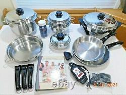 SALADMASTER Set 316Ti Titanium Stainless Waterless Cookware Electric Skillet