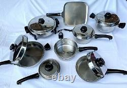 SALADMASTER Set System 7 Surgical Stainless Steel Cookware Plus Electric Skillet