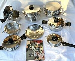 SALADMASTER Set TP304-316 Surgical Stainless Steel Waterless Cookware Waterless