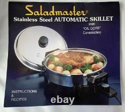 SALADMASTER T304S Stainless Steel Cookware 6 pcs + Vapo Lid Electric Skillet