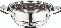 SWISS INOX 19 Pc Stainless Steel Cookware Set Fry Pots Pans Saucepan Casserole