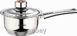 SWISS INOX 19 Pc Stainless Steel Cookware Set Saucepan Casserole Frying Pan Pots