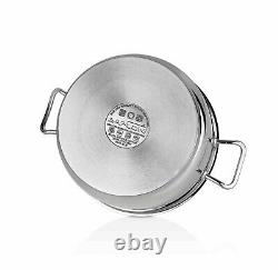 Saflon Stainless Steel Tri-Ply Bottom 8 Piece Cookware Set Induction Ready