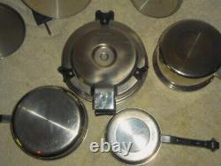 Saladmaster 18-8 Tri-Clad Stainless Steel Cookware with Electric Core Skillet