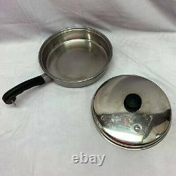 Saladmaster Cookware 12 Pc Set Pots Pans Lids Steamer 18-8 Tri-Clad SS US Made