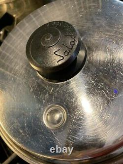 Saladmaster Cookware 9 Pc Set Pots Pans Lids Stockpot 18-8 Tri-Clad SS USA