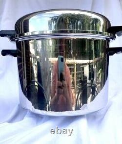 Saladmaster T304S Stainless Steel 12 Quarts Stock Pot Waterless Cookware USA