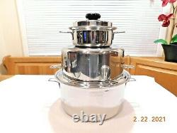 Saladmaster Xp7 316l Surgical Stainless Cookware 5 Qt 7 Qt 11 Skillet Waterles