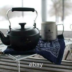 Snow Peak Teapot classic 0.7 Matte Black Novelty Camping Cookware Kettle