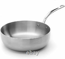 Stainless Steel Tri-Ply Chefs Pan Made In England Cookware Strong and Durable