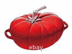 Staub Cookware Cocotte Tomato Oval Roaster Saucepan Cast Iron Cherry Red 25cm