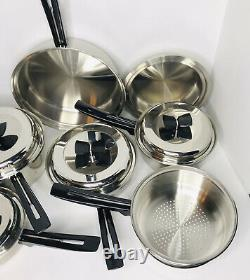 THERMO CORE 11 Piece Cookware Set Waterless 18-8 Stainless Made In USA EUC