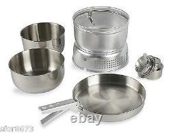 Tatonka 4010 Multi Set Stainless Steel Cookware With Burner & Wind Shield