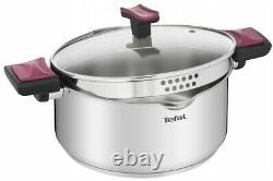 Tefal Cookware Set Cook & Clip 10 Pcs Saucepan Stewpots Glass Lids Pots Pot LID