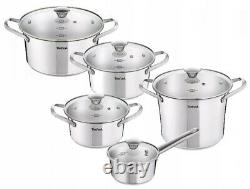 Tefal Simpleo Cookware Set 10 Pcs Stewpots Saucepan Stockpot Glass Lids Pot Pots