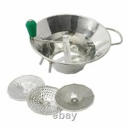 Tellier Moulin Triturator Made of Tinned Steel with 3 Different Sizes of Sieve