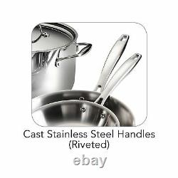 Tramontina 80116 248DS Cookware Set Stainless Steel Tri Ply Clad 10 Piece New