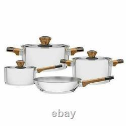 Tramontina Brava 4 Piece Cookware Set Casserole Saucepan Frying Pan Induction