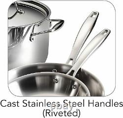 Tramontina Gourmet 10 Piece Tri-Ply Clad Stainless Steel Cookware Set NEW
