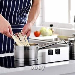 Velaze Mayne Cookware Set Induction Stainless Steel Casserole Pans Stock Pot Lid